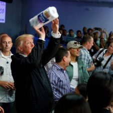 Trump tossing paper towels at Puerto Rico hurricane victims was vintage populism